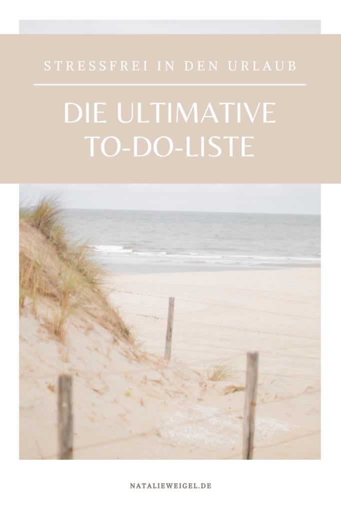 Urlaubsvorbereitungen To-Do-Liste